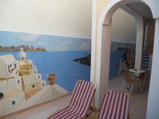Pension Petros: Panorama dalla stanza