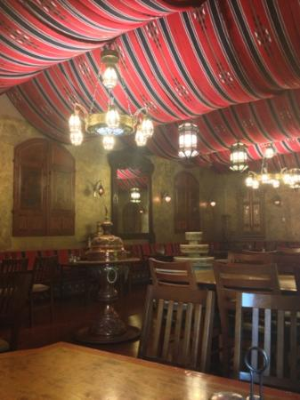 Ali Baba Grill: dining area with authentic decor'