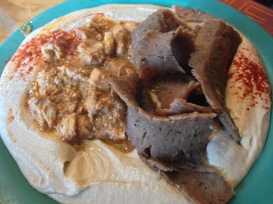 Ali Baba Grill: hummus be schwarma