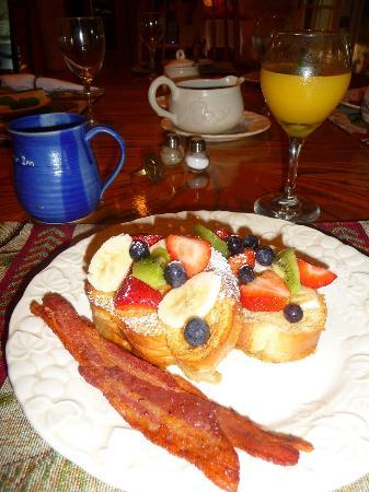 Blue Heron Inn : Fruity Lime French Toast with crispy bacon ...