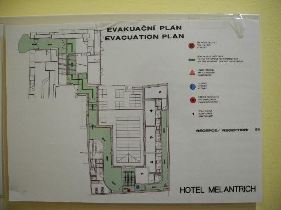 โรงแรมเมรันทริช: План этажа и ресепшн