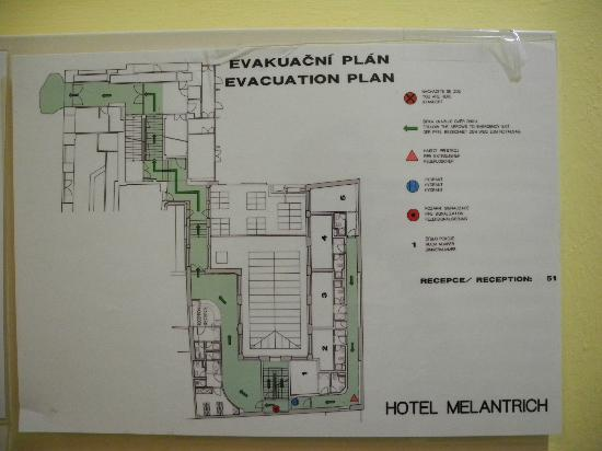 Hotel Melantrich: План этажа и ресепшн