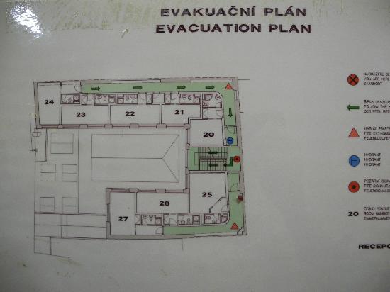 Hotel Melantrich: План этажа