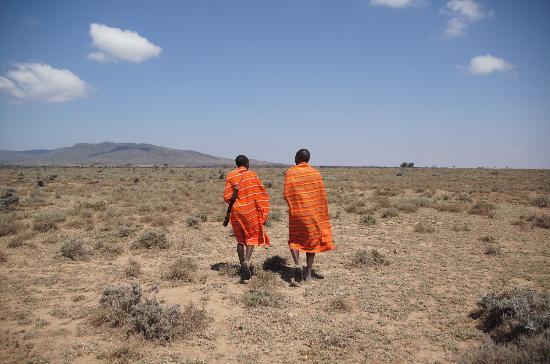 Maji Moto Eco Camp: Lopen als/met de Masai