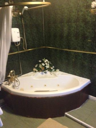 The Davenport: bottle green dark bathroom