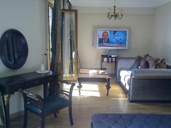 Villa Pasha Hotel: Couch mit TV
