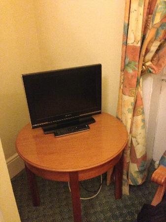 Tregenna Castle Resort: Tiniest TV ever