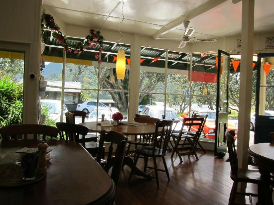 Huia Beach Store & Cafe: Inside the refurbished Huia Store, now looking pretty good
