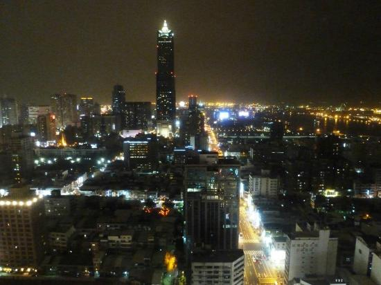 Grand Hi-Lai Hotel Kaohsiung : Night view of city centre from hotel