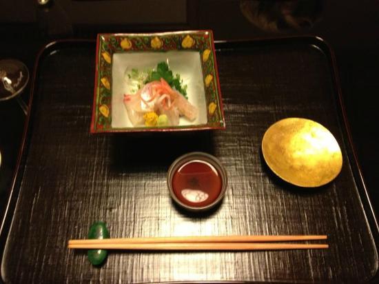 Kikunoi: sashimi