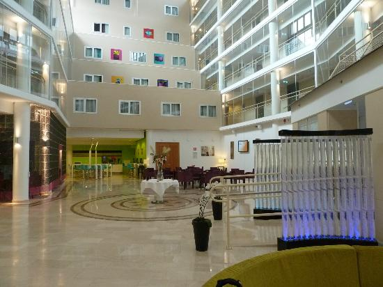 Ibis Styles Stockholm Jarva: The atrium, don't go for a room overlooking or if you do draw the curtains