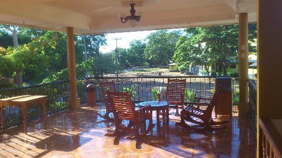 Hotel Bar Y Restaurante El Principe No.2: View from the deck on second level