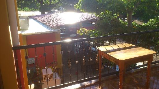 Hotel Bar Y Restaurante El Principe No.2: View from the deck on second level. The View is of the exterior restaurant.