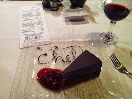 Chef Cafe: wonderful chocolate cherry cake for dessert
