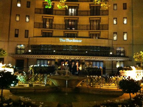 The Dorchester: Out front of the hotel