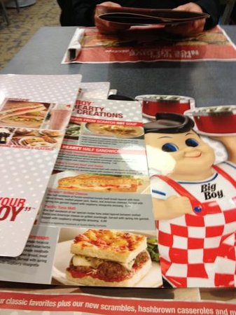 Petoskey Big Boy: menu