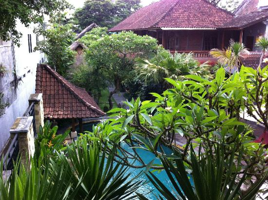 Lumbung Sari Cottages: view from the balcony