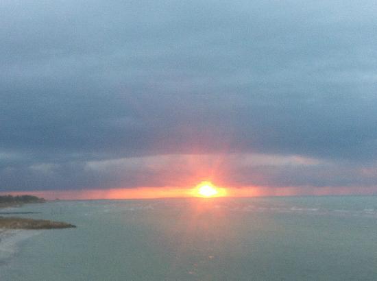 Las Nubes De Holbox: Puesta de sol desde el bar del hotel