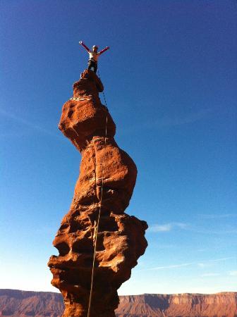 Moab Desert Adventures: Reaching the top!