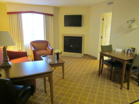 Residence Inn Madison West/Middleton: nice gas fireplace