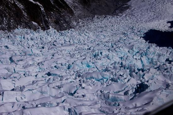 Franz Josef Glacier: more blues within the ice