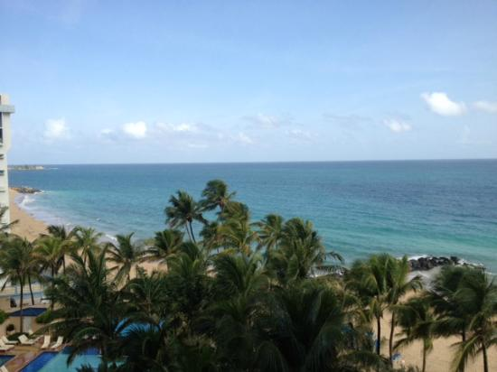 Marriott San Juan Resort & Stellaris Casino: View from room - partial ocean view room from 6th floor