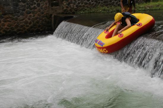 Bali River Tubing: Most exciting part!