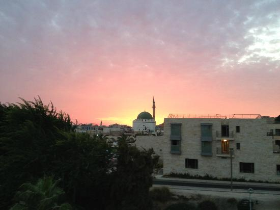 Akkotel: View from wall outside hotel
