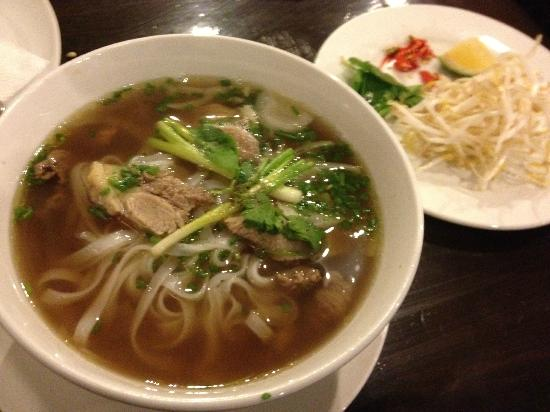 Ba Noi's: Pho Bo: Home made beef noodle soup served with fresh herbs and spices