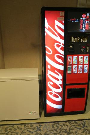 Watertown Hotel - A Piece of Pineapple Hospitality: Soda machine and ice for our floor.