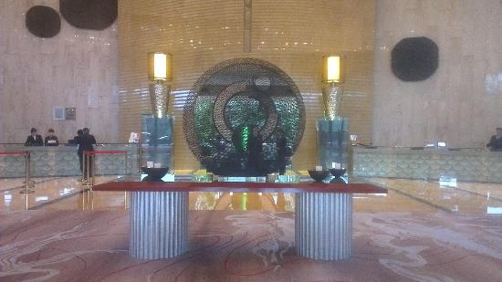 Royal Garden Hotel: A Large Sculpture in Reception area