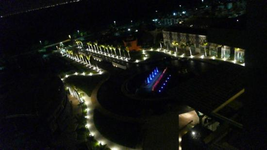 Hard Rock Hotel Cancun: View of entrance (looking toward lagoon) at night from room 867