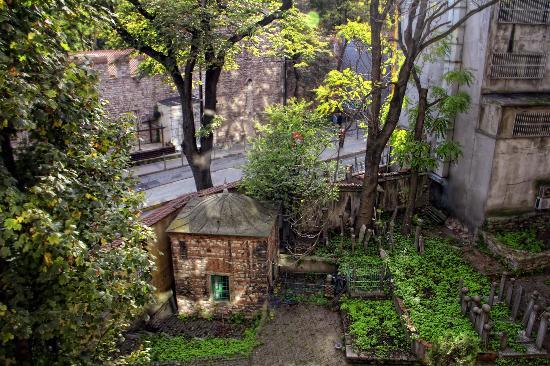 Adora Hotel: las vistas..con un pequeño cementerio y muralla del Topkapi