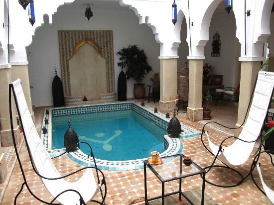 Riad Les Jardins Mandaline: la piscine