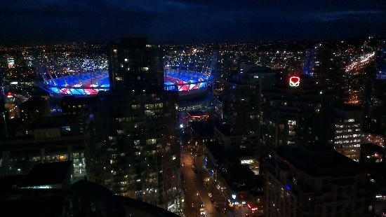 The Westin Grand, Vancouver: the night view from our room!