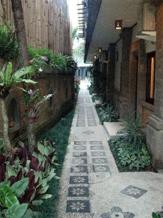 Kakiang Bungalows : path to rooms