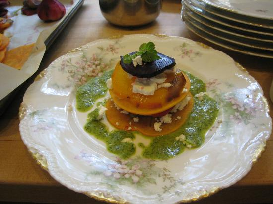 Market Forays: Roasted Beet and Persimmon Towers