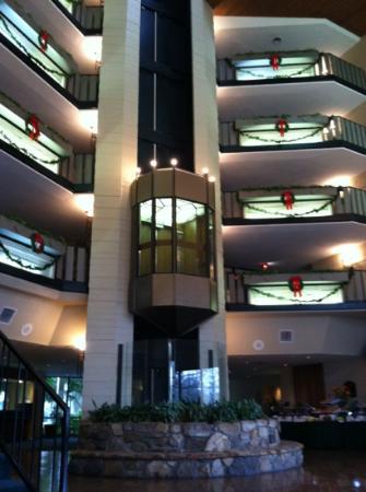 Glenstone Lodge: Lobby elevator.