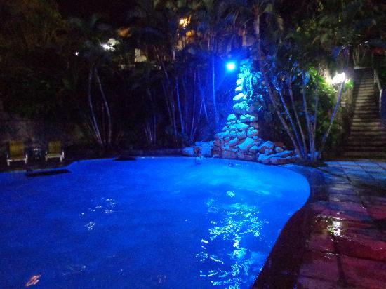 Hotel Mandragora: Pileta de noche