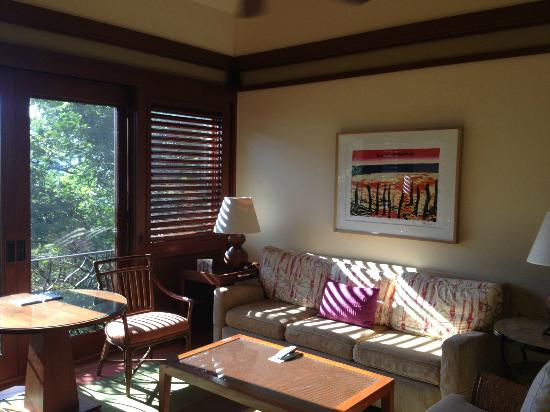 Four Seasons Resort Costa Rica at Peninsula Papagayo: Canopy suite living room