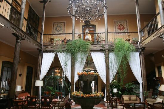 Mansion Alcazar Boutique Hotel: entrée donnant sur le patio chambres rdc et 1er étage
