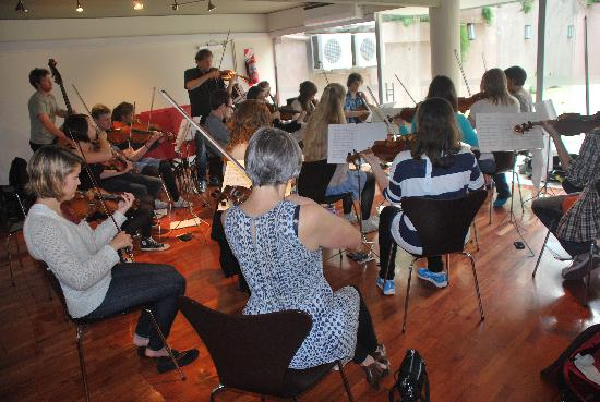 Tango Lodge: Orchestra rehearsal in our Tango Studio