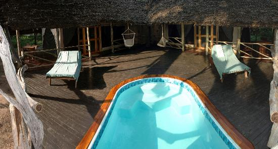 Selous Game Reserve, Tanzania: Double Tented Suite with private pool