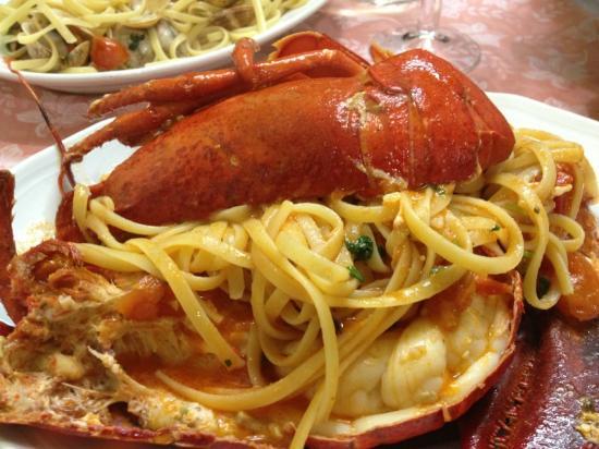 Spaghetti house & fish: spaghetti con astice