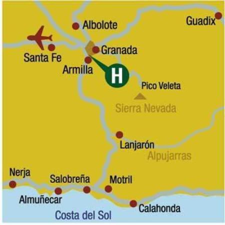 Hotel Triunfo Granada Sur: Map