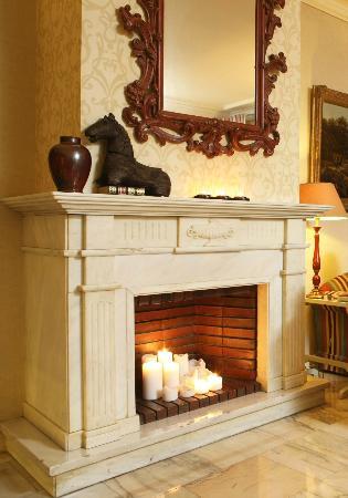 Hotel Lisboa Plaza : Fireplace room