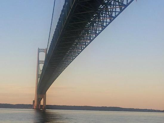 Ugly Anne Boat Cruises: View from under Mackinac Bridge