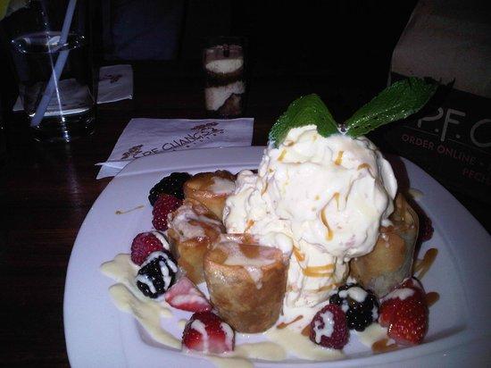 PF Chang's Banana Spring Roll and Hawaiian Icecream
