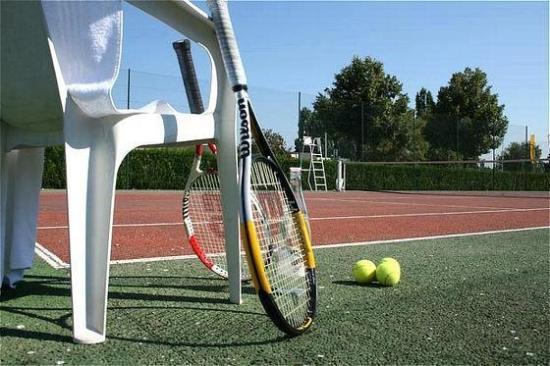 Hotel Les Colonnes Strasbourg Zenith : Tennis court