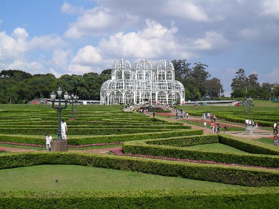 Curitiba cityscape from botanical garden picture of - Botanical gardens jacksonville fl ...